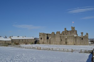 Picture used from A Room with a View (blog site) of Middleham Castle.